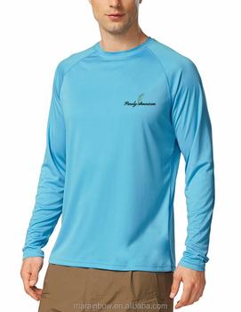 33610c922 Men's UPF50+ Basic Raglan Long Sleeve Performance T Shirt 95% Polyester 5%  Spandex Cool