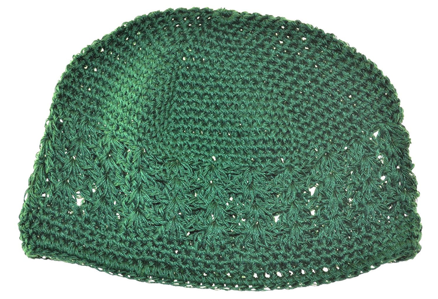 Get Quotations · MM Kufi Hat Crochet Cap Beanie Kelly Green bc924083f43