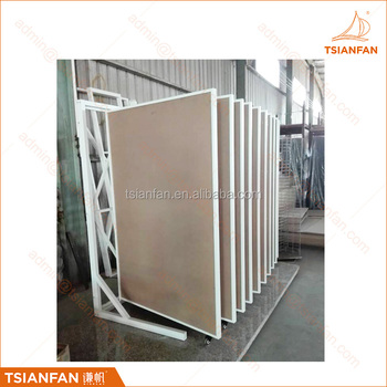 Factory custom page turning display rack ceramic tile display stand
