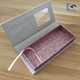 White shinning 3d mink eye lashes paper packaging box with window