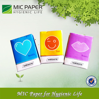 Promotional Pocket Pack mini Facial Tissue