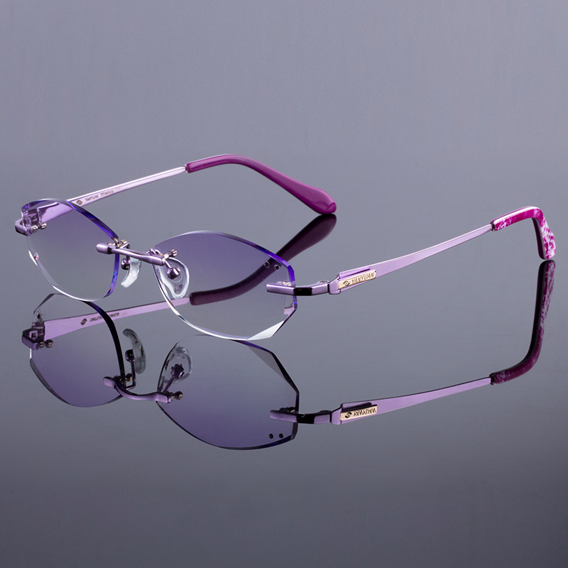 c254d494d68d6 New Women Optical Prescription Frame Original Brand Titanium Alloy Silhouette  Rimless Eyeglass Eyewear Frame Oculos De