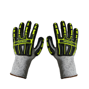 1 Pair High Dexterity Heavy Duty Mechanic Gloves,Light TPR Coated Anti-abrasion Rigger Glove,Best for Cycling,Motorcycling
