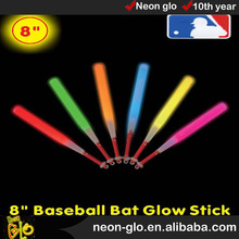8'' baseball bat glow stick ,best gifts for kid