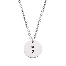 Rond Point-Virgule Collier Noir Estampillé À La Main <span class=keywords><strong>Symbole</strong></span>
