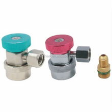 Refrigeration quick couplers with brass valve