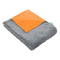 Soft Breathable and Fade Resistant with Orange and Grey Dot Minky Duvet Cover Weighted Blanket