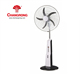 2018 new 5 speed rechargeable emergency solar fan with TIMER function