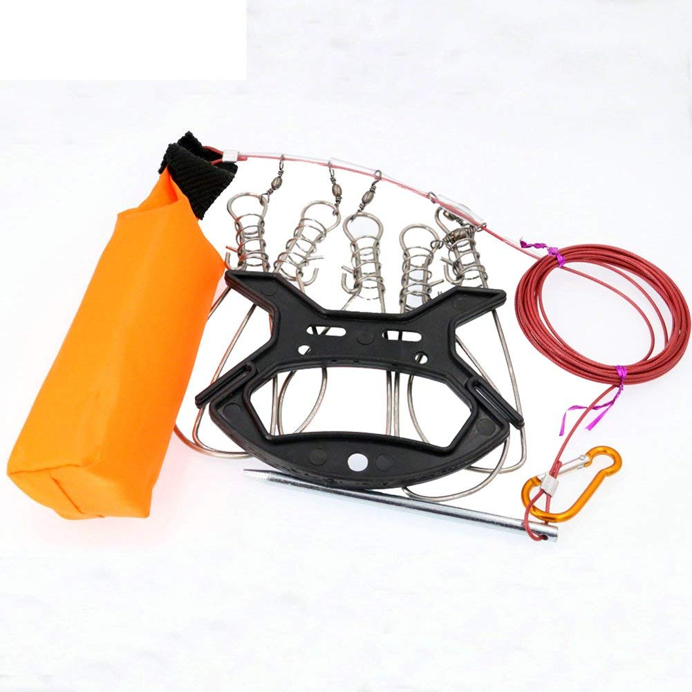 vissen 5M Fish Stringer Stainless Steel Live Fishing Lock Buckle Fishing Stringer Fishing Tackle for Accessories