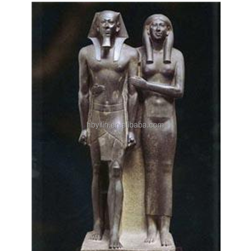 Egypt man and woman bronze sculpture