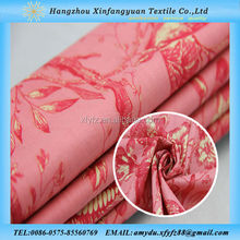 XFY printed silk cotton voile fabric