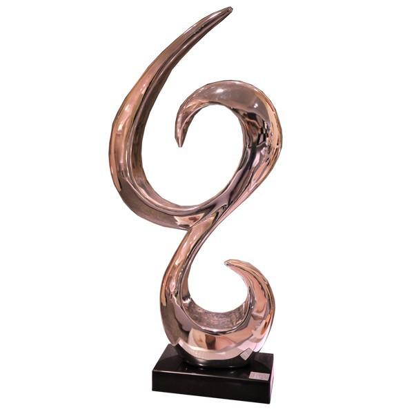 Esculturas abstractas de galvanoplastia para la decoraci n - Esculturas de madera abstractas ...