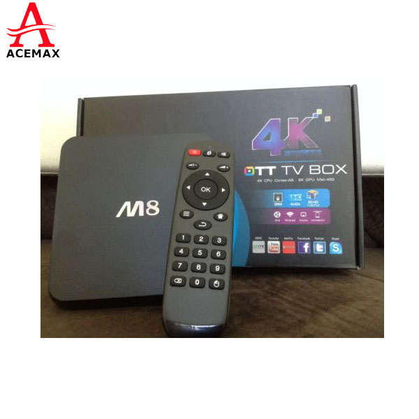 M8 KODI/XBMC Streaming media player <strong>Android</strong> <strong>TV</strong> <strong>Box</strong> Support Wifi 4K <strong>Android</strong> 5.1 KitKat OS RJ45 Ethernet Bluetooth