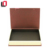 Book shaped magnetic closure rectangular chocolate packaging with inserts