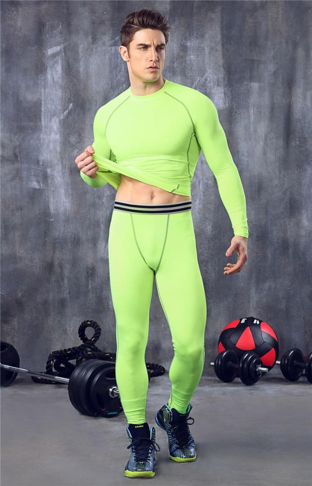 Men 's basketball running training pants stretch compression pants sports trousers nine points MA28