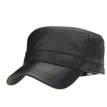 9468148673747 OEM ODM Service Factory Custom Fitted Men s Black Blank Captain Hats With  Leather Brim