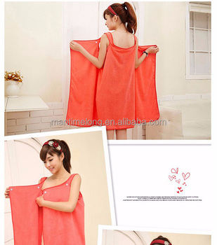 1b6d737c08 Women Bath Towel Wearable Microfiber Fabric Beach Towel Rose Red Soft Wrap Skirt  Towels Super Absorbent