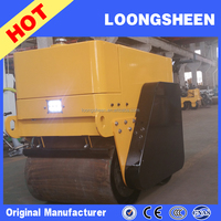 800Kg hydraulic vibration double drum compact road roller