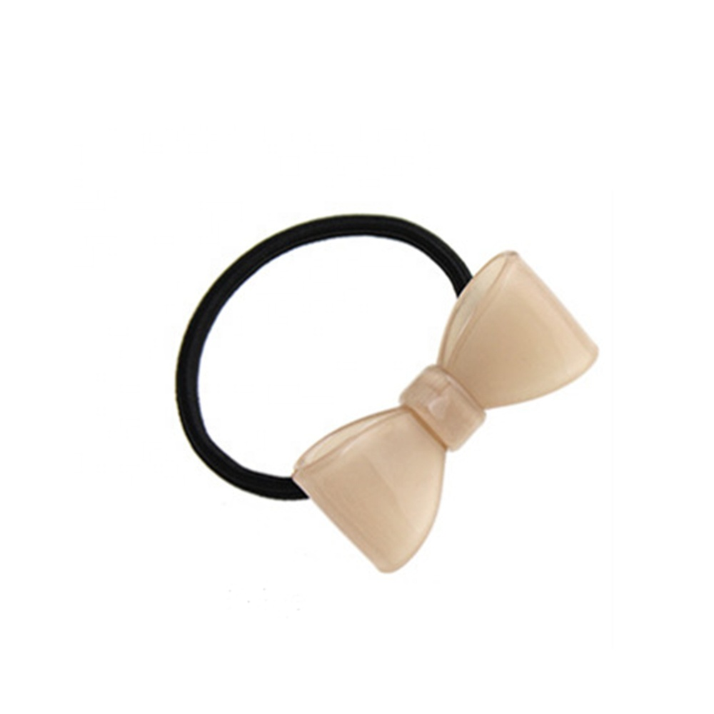 Fancy women elastic hair band with acetate bowknot