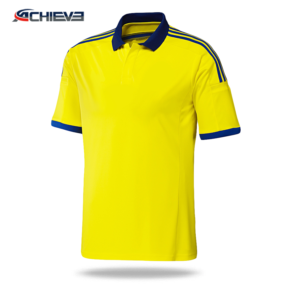 sublimated yellow blue soccer jersey/super rugby jerseys/football jersey