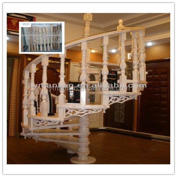 int rieur en bois massif balustrade pour rampe d 39 escalier. Black Bedroom Furniture Sets. Home Design Ideas