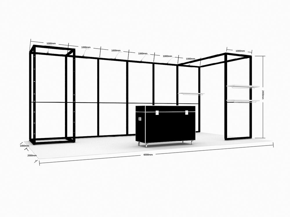 Modular Reusable Exhibition Stands : Cheaper diy modular exhibition booth for trade show buy
