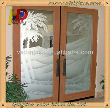 Supply Best Decorative Frosted Interior Glass Doorshalf Glass