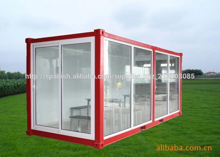 Casa contenedor modular para oficina sal n sala de exposici n vacaciones casas prefabricadas - Precio casa contenedor ...