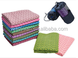 eco-friendly non-slip microfiber Yoga towel with silicone dot