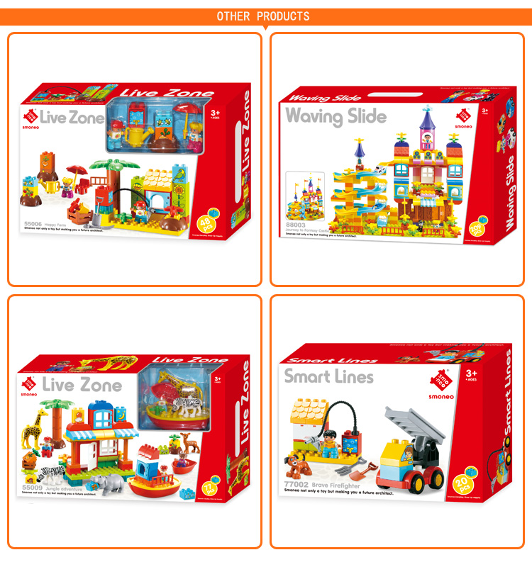 Good quality ABS building block set toys for kids play house home restaurant 81 PCS
