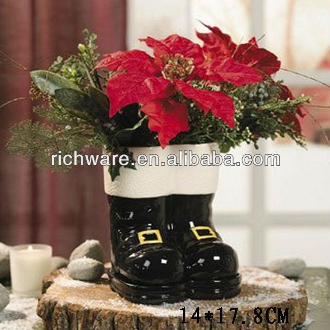 keramik santa stiefel blument pfe und pflanzgef e weihnachtsschmuck produkt id 1635435796. Black Bedroom Furniture Sets. Home Design Ideas