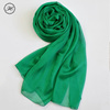 Hot Sale Wholesale Solid Color Chiffon Silk Scarf For Women