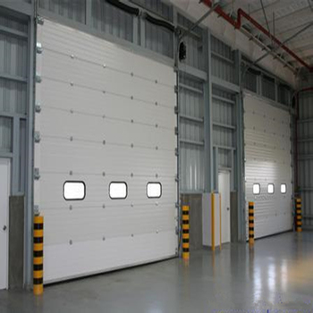 High Lift Industrial Sectional Overhead Door Used In