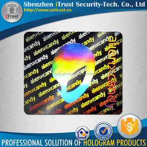 Make your own authenticity security hologram sticker