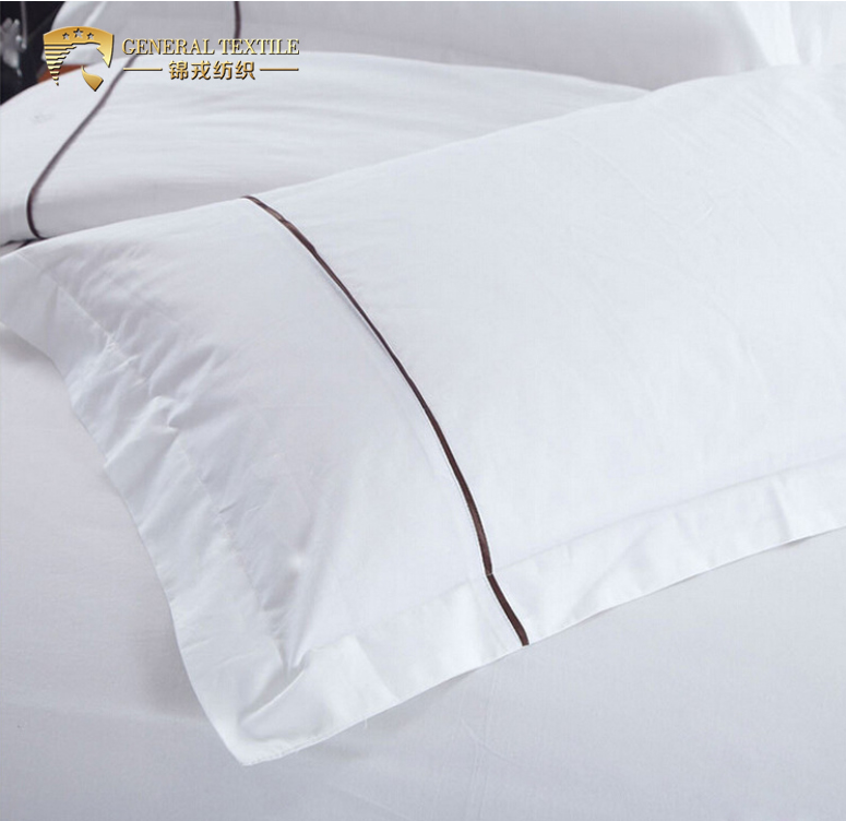 60*60S 350T satin embroidery hotel bed sheet
