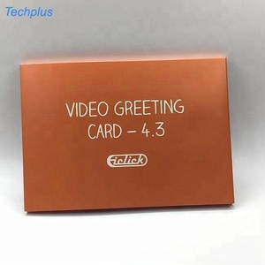 Lcd Portable Advertising Folder Video Brochure Touch Screen Marketing Player Greeting Card