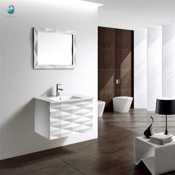 K 1015 Low Price Modern Oak Wood Floor Standing Bathroom Vanity Custom Tops Lowes