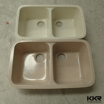 60/40 Double Bowl Solid Surface Kitchen Sink with Cupc & 60/40 Double Bowl Solid Surface Kitchen Sink With Cupc - Buy Kitchen ...