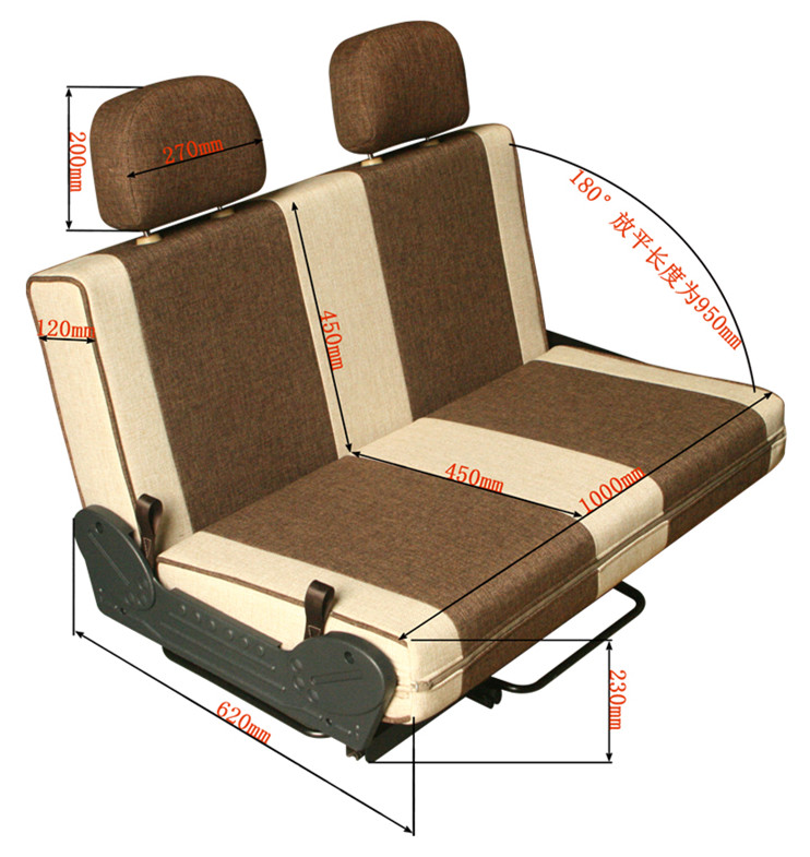 Foldable Double Seats Bed For Caravan - Buy Double Seats Bed ...