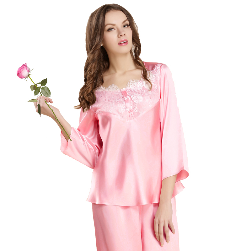 40244b0d79 ... Suit Silk Satin Print Pajamas Set Sleepwear. null. null. Get Quotations  · Hot Sell Brands Womens Nightgown 100% silk women s sleep shirts Fashion  ...