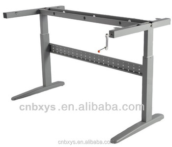 Hand Crank Adjustable Desk/ Table Base With Hand Crank Adjustable Table  Frame
