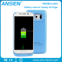 china bulk site 2016 battery bank power phone case charger for Samsung Galaxy S6 Edge
