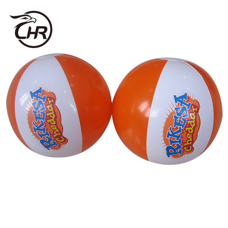 "12 ""2 couleurs Ballon De Plage-orange/blanc"