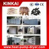 Hot air circulating tray drying commercial dried fish drying machine / fruit dehydrator