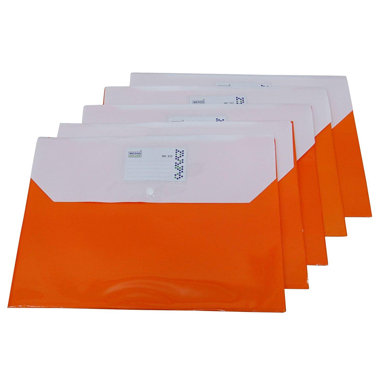A4 Plastic wallets.Stud Document Files Folders Filing School Office wholesale