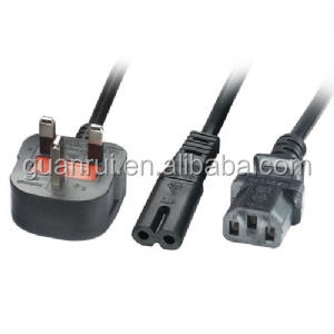 BS Power Cord Home application and Computer used 13 amp UK 3 pin Plug UK plug