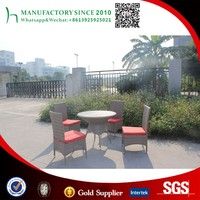 Outdoor furniture small rattan wicker coffee table and chairs set