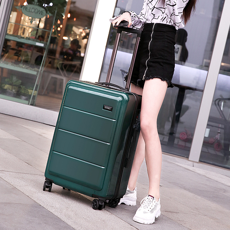 3pcs 20/24/28 ABS PC Travel Luggage Set , Low Cost Flight ABS Trolley Suitcase Set with Removable wheels