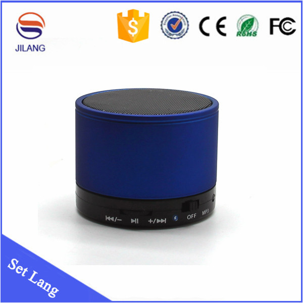 Cheap Mini small round S10 portable wireless bluetooth speaker made in china