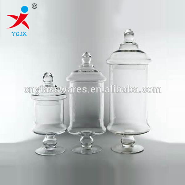 Popular Home Decoration Large Clear Glass Storage Jar With Lids - Buy  FM88